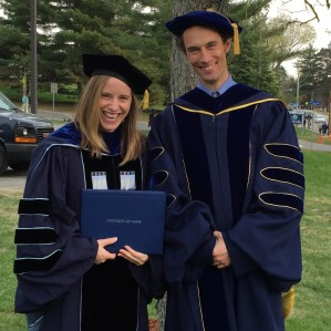 Dr. Sandra Goff and adviser Tim Waring